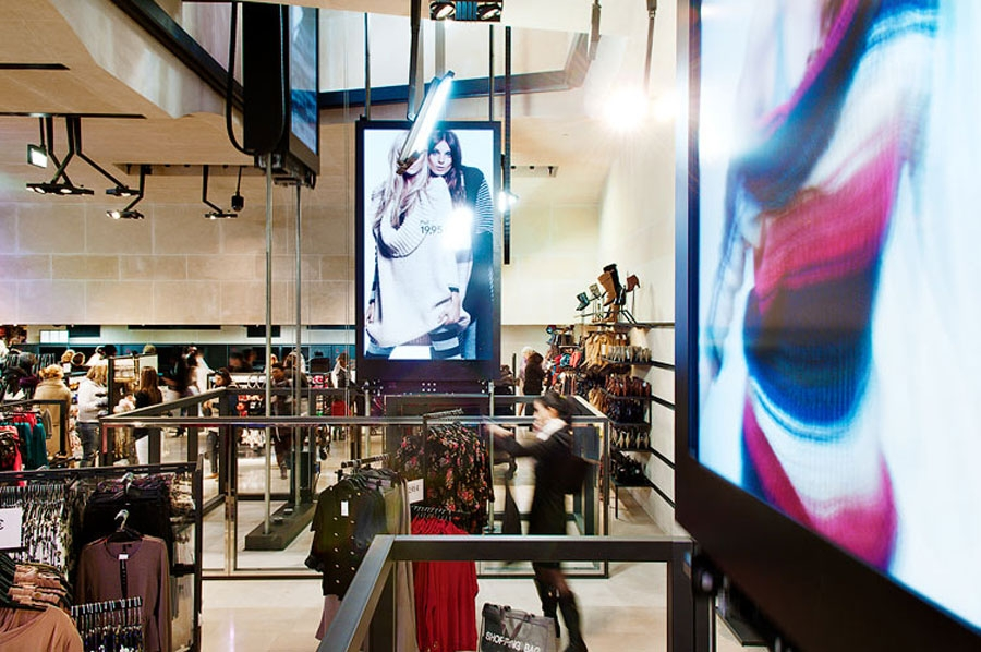 H m flagship store jean nouvel design - H m paris champs elysees ...